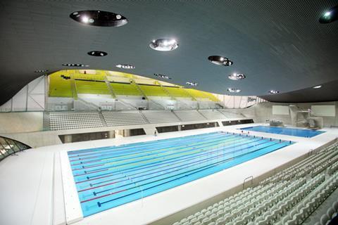 Aquatics Centre, London by Zaha Hadid